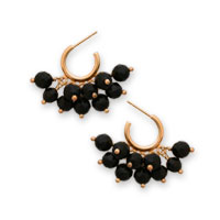 black onyx 'cluster' earrings in 22K vermeil